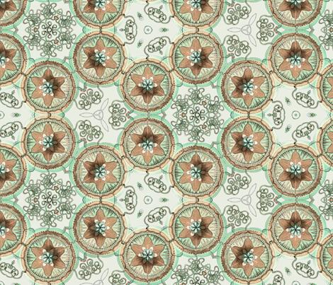 Haeckel Trachymedusae Jellyfish ~ Damask fabric by peacoquettedesigns on Spoonflower - custom fabric