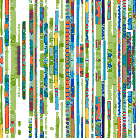 Textured stripes_colorful fabric by beverlyjane on Spoonflower - custom fabric