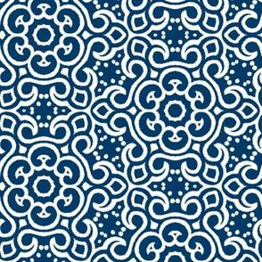 Chinese Indigo Tiles ~ Bian ~ Variation Ehr