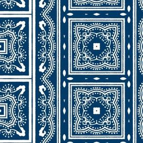 Chinese Indigo Tiles ~ Bian ~ Variation Yi