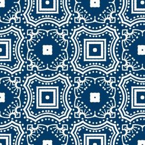 Chinese Indigo Tiles ~ Bian ~ Variation San