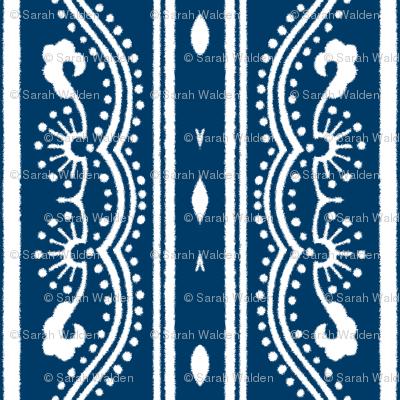 Chinese Indigo Tiles ~ Bian ~ Variation SS