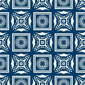 Chinese Indigo Tiles ~ Bian ~ Variation Ba