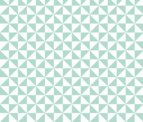 Pinwheels Mint fabric by studio_amelie on Spoonflower - custom fabric