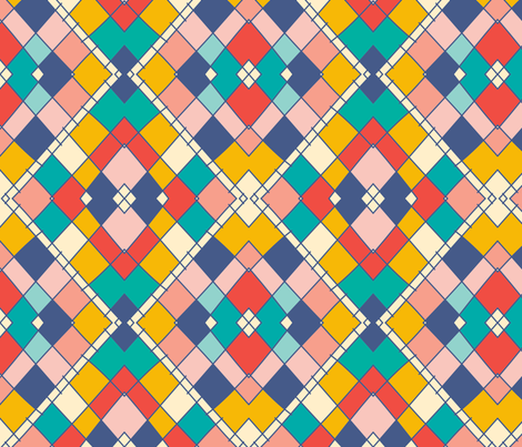 flori_patchwork_summer fabric by holli_zollinger on Spoonflower - custom fabric