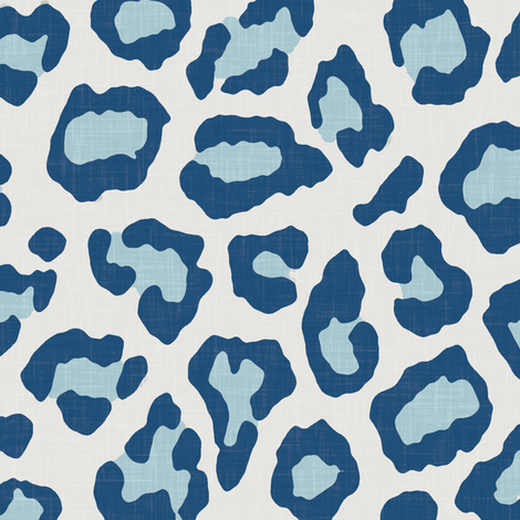 Etosha Leopard Skin in Blue fabric by willowlanetextiles on Spoonflower - custom fabric