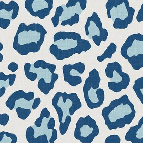 Etosha Leopard Skin in Blue