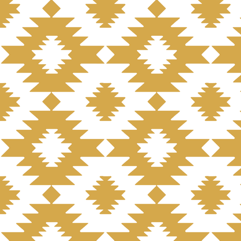 Andie in Gold fabric by willowlanetextiles on Spoonflower - custom fabric