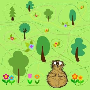 the groundhog's secret garden