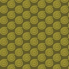 Swirls Gold Olive