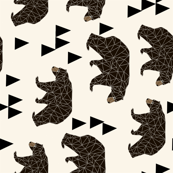 geometric bear // cream railroad triangle trendy baby nursery design