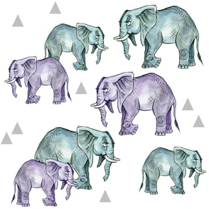Elephants and Triangles - Larger Scale