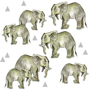 Grey Elephant Herd