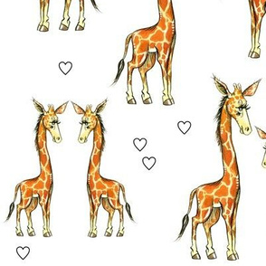 Giraffes and Hearts