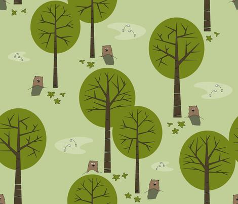 Groundhog Springtime fabric by juliesfabrics on Spoonflower - custom fabric