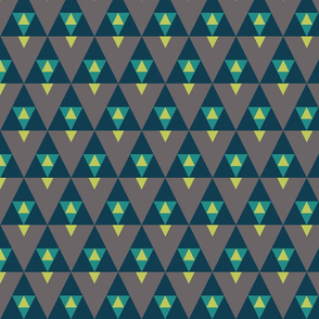 Triangle Stack - Teal and Gray