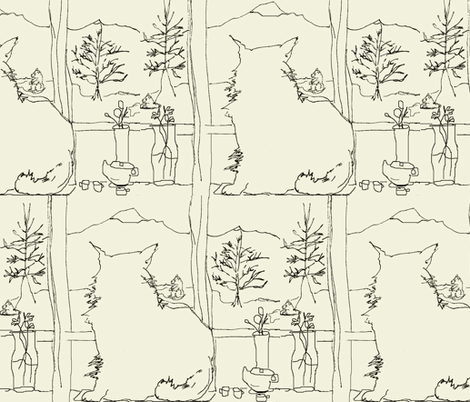 Waiting for Spring: Groundhogs fabric by kimruss@thatcatart on Spoonflower - custom fabric