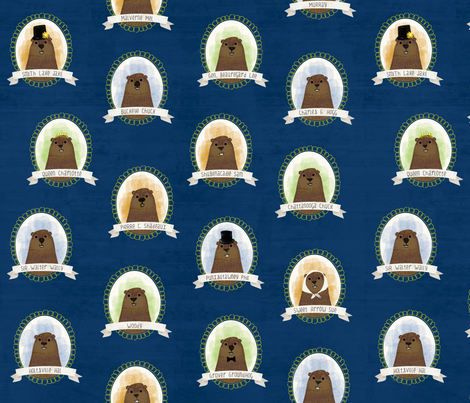 Know Your Famous Groundhogs fabric by lellobird on Spoonflower - custom fabric