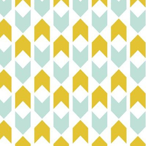 Minty Golden Chevron