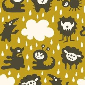 It's raining Monsters (brown)