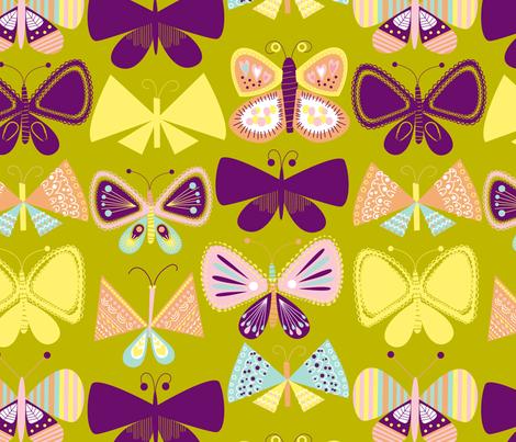 Simply Butterflies second print fabric by prettyprints_yana on Spoonflower - custom fabric
