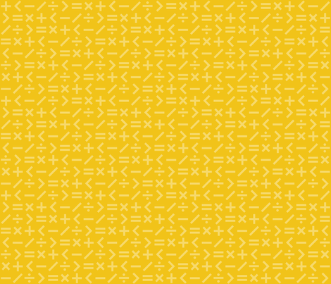Calculation Simple Yellow (Elementary) fabric by brendazapotosky on Spoonflower - custom fabric