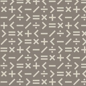 Calculation Simple (Taupe)