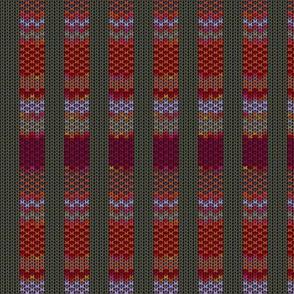Sixth Doctor Knit Waistcoat - Grid