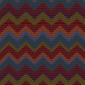 Sixth Doctor Knit Waistcoat - Zigzag