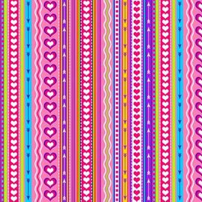 Valentine Stripes Multi