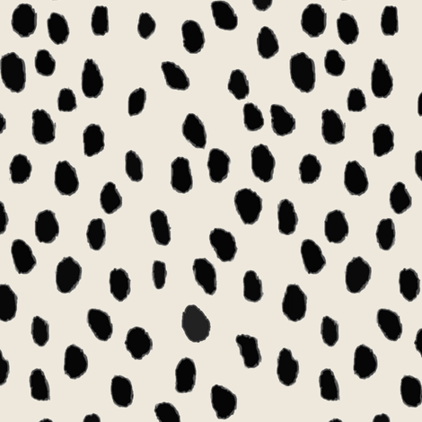 Printemps in Ebony / Tint Dots fabric by willowlanetextiles on Spoonflower - custom fabric