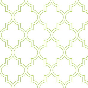 Moroccan Outline Quatrefoil in Sprout