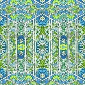 Blue Green Garden Party
