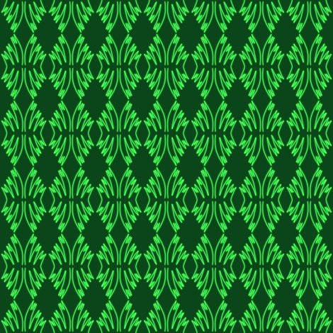 Holiday Pine Green Crochet Lace fabric by eve_catt_art on Spoonflower - custom fabric
