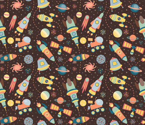 space_explorers fabric by alexiazotos on Spoonflower - custom fabric