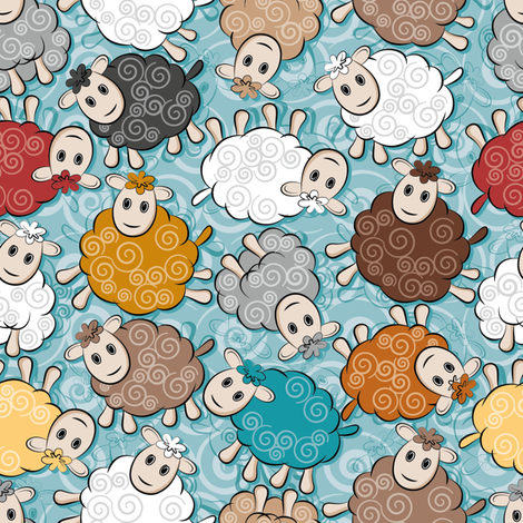 Dessine moi un mouton fabric by cassiopee on Spoonflower - custom fabric