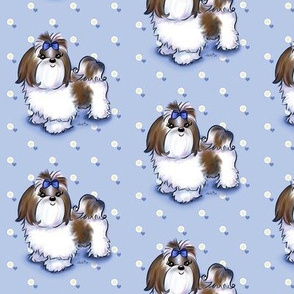 shih tzu wallpaper  shih tzu fabric, wallpaper