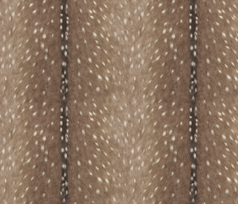 Deer Hide Fabric and Wallpaper in Taupe fabric by willowlanetextiles on Spoonflower - custom fabric