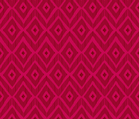 Ikat red & pink fabric by fat_bird_designs on Spoonflower - custom fabric