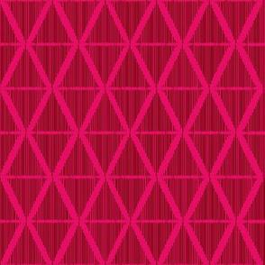 Diamond Ikat red