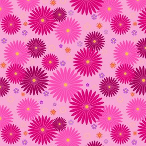 Happy Pink Flowers
