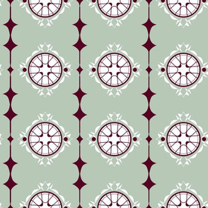 Moorish Windows - Sage