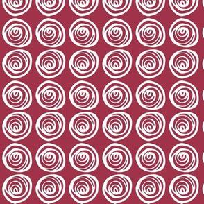 Red Swirls - reverse