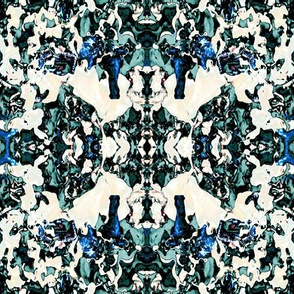oriental mushroom pattern