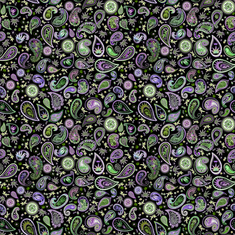 420 Hiphop Paisley Small (R) fabric by camomoto on Spoonflower - custom fabric