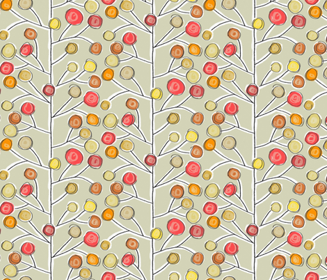 forever trees natural fabric by scrummy on Spoonflower - custom fabric