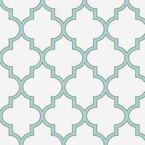 Kelly Green and Spa Quatrefoil