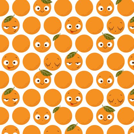 Oranges fabric by michalwright-ward on Spoonflower - custom fabric