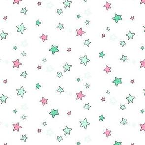 Sea Stars (mint/pink)