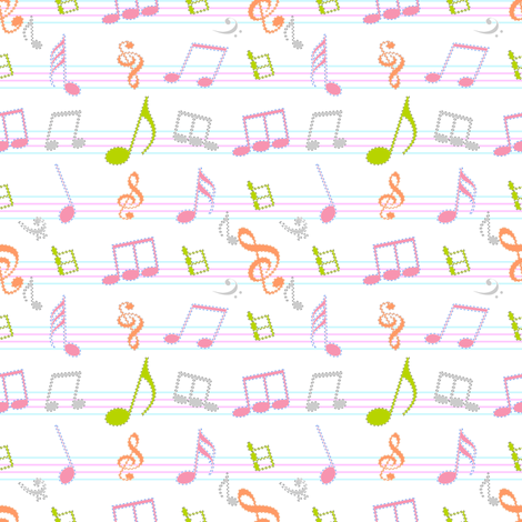 musical_06 fabric by snappy_baby on Spoonflower - custom fabric